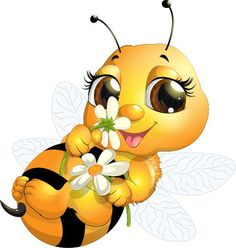 Cartoon Honey Bee Clip Art | ... bee queen bees emoticon bumble bees yahoo search google search clipart