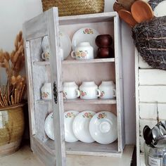My kampunghouse farmhouse style kitchen Farmhouse Style Kitchen, China Cabinet, Storage, Furniture, Home Decor, Kitchen Styling, Purse Storage, Crockery Cabinet, Decoration Home