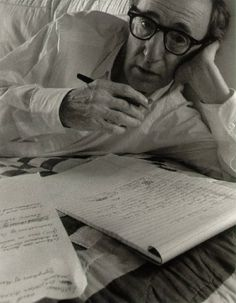 Woody Allen, New York, 1996.    (American screenwriter, director, actor, comedian, author, & playwright)