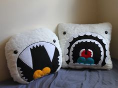 yeti pillows...so funny! (no tutorial - idea only!)