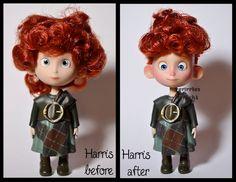 repainted ooak harris doll. - merida's brother #1. by verirrtesIrrlicht.deviantart.com on @DeviantArt