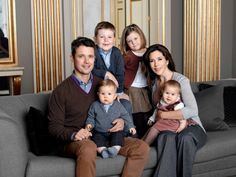 The Danish Crown Prince Frederik and Crown Princess Mary with their children, Prince Christian, Princess Isabella and the twins ( one year old in Jan. 12) Prince Vincent and Princess Josephine.