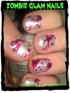 Zombie Glam Nails - My Husband Ate All My Ice Cream