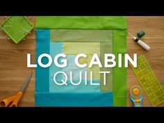 Have you ever made a log cabin quilt using strips? See how easy it is to make the Log Cabin Quilt Block with this Quilt Snips Video! Missouri Quilt Tutorials, Quilting Tutorials, Quilting Projects, Msqc Tutorials, Quilting Ideas, Sewing Projects, Quilt Blocks Easy, Easy Quilts, Block Quilt