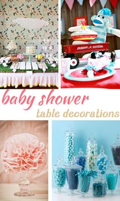 Baby Shower Table Decorations