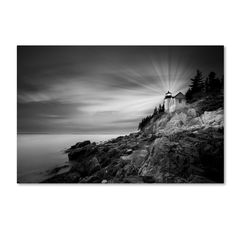 Bass Harbor Lighthouse by Moises Levy Photographic Print on Wrapped Canvas