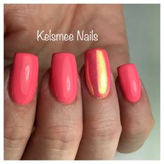 LeChat sunkissed and a Mirror nail