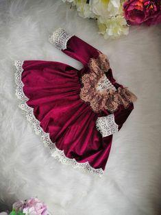 Baby girl velvet dress Christmas outfit