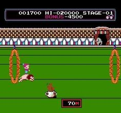 Circus Charlie (Famicom) - Though I dislike the balancing act on the ball oh-so-much. Vintage Video Games, Retro Video Games, Childhood Games, Childhood Memories, Arcade, Kickin It Old School, Nostalgia, Remember The Time, Vintage Bollywood