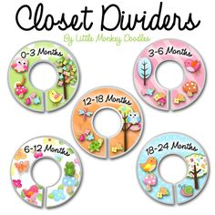 CLOSET DIVIDERS Owls Love Birdies Girls Nature Forest Bedroom and Baby Nursery Art Decor. $12.00, via Etsy. GREAT IDEAS ON THIS SITE