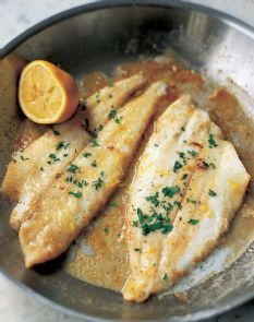 Easy Sole Meunière  // Barefoot Contessa ... use tilapia, serve with rice pilaf or steamed broccoli http://www.barefootcontessa.com/recipes.aspx?RecipeID=388&S=0