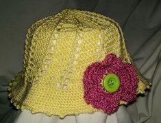 Crochet Uncut: Dorothea Sun Hat/Beanie - free crochet pattern in sizes newborn to adult female by Darlisa Riggs. Crochet Baby Bonnet, Crochet Toddler, Newborn Crochet, Beanies, Beanie Hats, Free Crochet, Crochet Hats, Bonnet Hat, Baby Bonnets