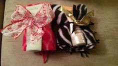 Scarves with hand cream $12