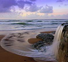 bluepueblo:    Ocean Waterfall, Azenhas do MarSintra, Portugal   photo via quandryeyes