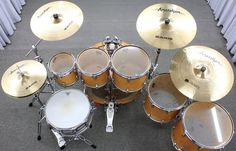 "Bateria Yamaha Maple Custom Antique Natural 22"",8"",10"",12"",14"",16"" Made in Japan : DEPARTAMENTOS - Baterias - Acústicas : Batera Clube : A 1ª Drum Shop Online do Brasil"