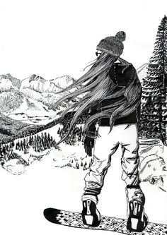 Witte wereld - Sascha's Illustraties hairstylist❤️Studió Parrucchieri Lory (Join us on our Facebook Page) Via Cinzano 10, Torino, Italy. Do you like snowboarding motivation? Click here http://www.liferich.co