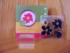 Beauty Clear Acrylic Stamps and 1 inch clear by SuperCraftyLady, $8.25