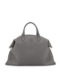 Bottega Veneta Maxi Convertible Woven Tote Bag Gray          $289.00