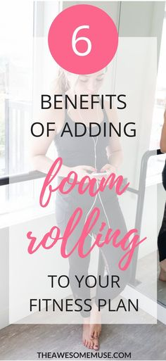 Foam rolling benefits your body and helps you take care of sore, tired muscles. It's perfect for recovery from muscle soreness and relaxes the body. You Fitness, Fitness Tips, Health Fitness, Fitness Plan, Benefits Of Foam Rolling, Stomach Ulcers, Coconut Health Benefits, Healthy Oils, Healthy Recipes