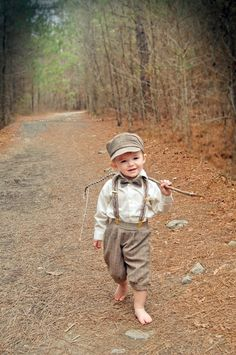 Amazon.com: Vintage Dress Suit-Bowtie, Suspenders, Knickers Outfit Set-Boys Brown Plaid: Infant And Toddler Tuxedos: Clothing