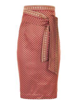 High waisted Thai Silk skirt | www.georgine.info