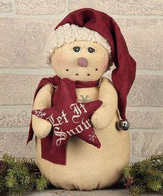 Look what I found on #zulily! Vintage Snowman with Star Figurine #zulilyfinds