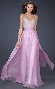 Gorgeous lilac prom dress
