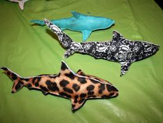 Shark Week Craft: Shark Plush--can either sew it or hot-glue it