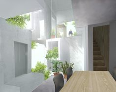 Image 7 of 14 from gallery of Tree-ness House / Akihisa Hirata. Courtesy of Akihisa Hirata Japanese Architecture, Architecture Office, Residential Architecture, Residential Complex, Roof Light, Outdoor Spaces, Interior Design, Home Decor, Terraces