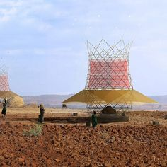 The WarkaWater tower is an unlikely structure to find jutting from the Ethiopian landscape. At 30 feet tall and 13 feet wide, it's not half as big as its namesake tree (which can loom 75 feet tall), but it's striking nonetheless
