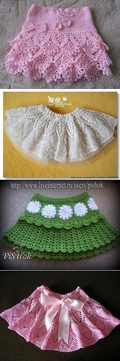 """Discover thousands of images about Crochet Layered Shell Stitch Skirt Free Pattern Video- Crochet Girls Ski Baby Girl Skirts, Baby Skirt, Black Crochet Dress, Crochet Skirts, Mode Crochet, Knit Crochet, Crochet Baby Clothes, Crochet For Kids, Beautiful Crochet"