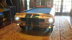 Check out this classy 1965 Shelby GT-350 pool table we installed in Texas!  :)   www.CarPoolTables.com