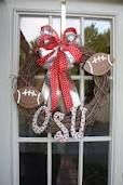 Cute football wreath