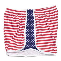 Delta Gamma Shorts in Red, White and Blue by Krass & Co.