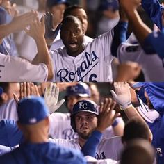 Moose wasn't about to be left out of tonight's home run parade. He followed LoCain's solo with a 2-run shot! #ForeverRoyal #Royals   royals.com