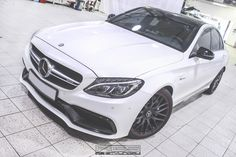 Mercedes C63s AMG W205 In Hexis Bodyfence Protection Wrap