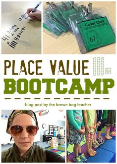 Place Value Bootcamp! Great ideas for teaching place value in 1st grade - The Brown Bag Teacher