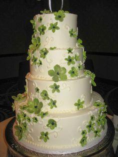 green blossom wedding cake Cheesecake Etc.