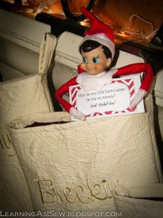 Learning As I Sew...bake, cut, and create: Elf on the Shelf Ideas and Printable Links
