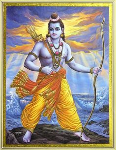 Lord Rama - The 7th-Avatar (Incarnation) of Lord Vishnu the central figure in the epic story Ramayana