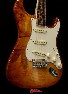 Fender Select Stratocaster® Exotic Maple Quilt, Channel-Bound Rosewood Fingerboard, Iced Tea Burst | Reverb