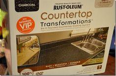 Rustoleum Countertop Transformations- Charcoal | PlumDoodles.com