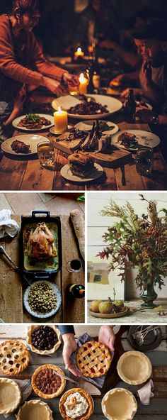 Rustic Thanksgiving food photography! Love those colors popping.