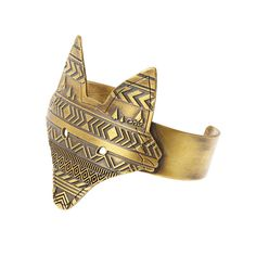 Fox Cuff by epictm on Etsy Messing, Heeled Mules, Gold, Etsy, Heels, Bracelets, Silver, Handmade, Fashion