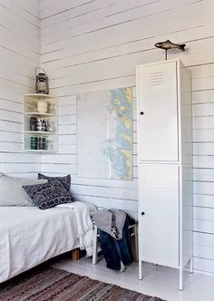 The beautiful pared-back Finnish cabin of Johanna Lehtinen. Krista Keltanen.