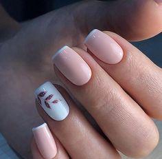 nail polish ideas for winter - nail polish ideas ; nail polish ideas for spring ; nail polish ideas for summer ; nail polish ideas for winter Simple Acrylic Nails, Square Acrylic Nails, Acrylic Nail Designs, Light Pink Nail Designs, White Acrylic Nails With Glitter, Natural Nail Designs, Classy Nail Designs, Simple Nail Art Designs, Short Nail Designs
