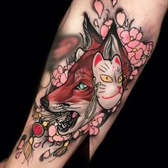 A selection of the beautiful tattoos by the Italian artist Brando Chiesa, based in Florence, who imagines fantastic animals inspired by Asian mythology and Ja Kunst Tattoos, Bild Tattoos, Body Art Tattoos, Sleeve Tattoos, Star Tattoos, Retro Tattoos, Modern Tattoos, Tattoo Henna, Mask Tattoo