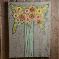 If you fancy the whimsical, you are sure to fall for Cecel Allee's creative artistic pieces. Painted with an array of colors on wooden boards, they add the perfect touch of playful style to any room.