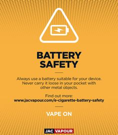 E-cig battery safety is important. Make sure you follow our battery safety advice when handling or storing IMR batteries.  #ecig #battery #vaping #vape #vapers #vapeon #vapesafe #jacvapour