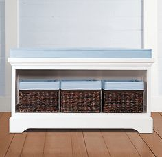 Marlowe Storage Bench... but not with blue (or pink)!